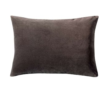 'Elise' Cushion range, made from 100% Cotton Velvet , presented in Cacao. By Vivaraise of France