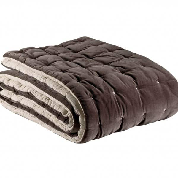 'Elise' Bed Runner, made from 100% Cotton, presented in Cacao. By Vivaraise of France