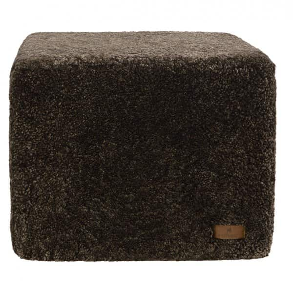 'Emma' - 100% Sheepskin Pouffe, Square, in Cappuccino. By Shepherd of Sweden