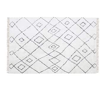 'Ervin' Rug, made from 100% Cotton, presented in Ivory / Taupe. By The Rug Republic of France