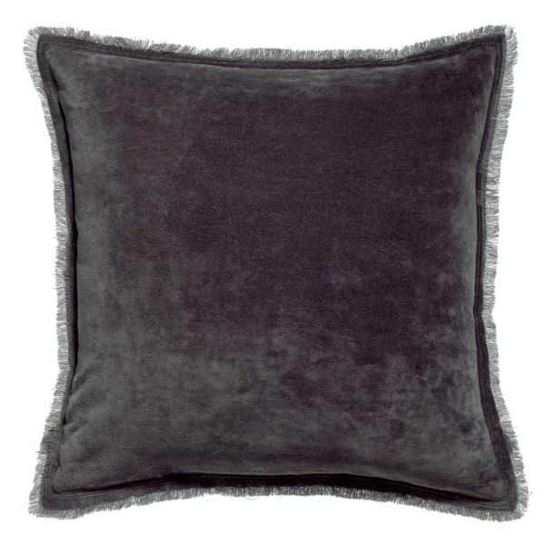 'Fara' Cushion range, made from 100% Cotton Velvet with Fringe finish, presented in Ombre. By Vivaraise of France