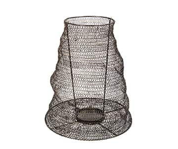 'Ferro' Candle Lantern range, made from Black wire mesh. By PTMD Collection®