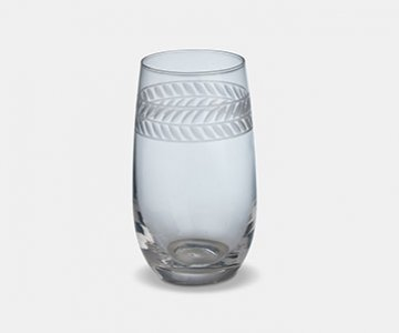 Feugera High Ball Glass (S/4), made from Glass, and presented in Clear, with pattern. From The Vintage Garden Room