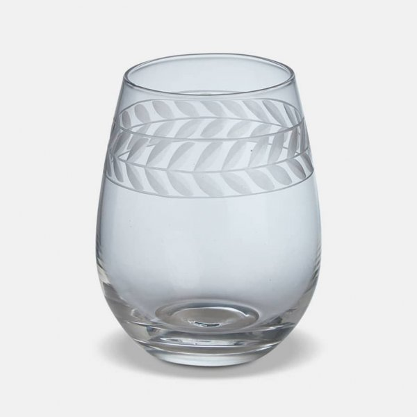 Feugera Tumbler (S/4), made from Glass, and presented in Clear, with pattern. From The Vintage Garden Room