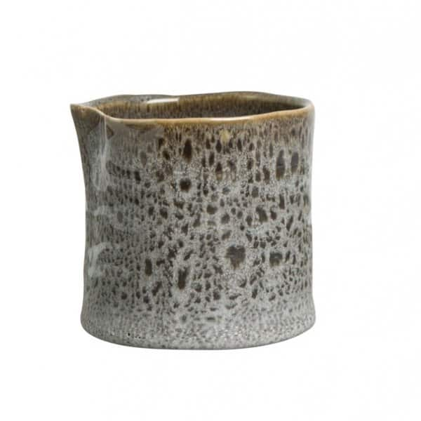 'Gannis' Stoneware Pot range, Glazed, patterned, and finished in Grey. By ON Interior of Sweden