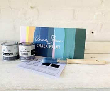 Gift Set suggestion 10 - An Annie Sloan furniture paint start kit! Includes a Chalk Paint sample Pot (44 to choose from!), a Clear Wax, a paint brush and a Paint Chart