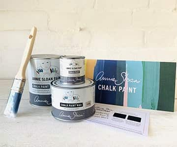 Gift Set suggestion 11 - An Annie Sloan furniture paint start kit! Includes a 1 Litre tin & a sample pot of chalk paint (44 to choose from!), a tin of Clear Wax, a paint brush and a colour chart