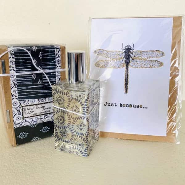 Gift Set suggestion 4 - Includes a card (of your choice) and a stunning 'Priddy Essentials' Perfume (choice of 2 fragrances - 'Vetiver & Sweet Orange' or 'Persian Lemon')
