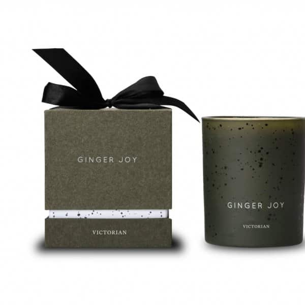 'Ginger Joy' scented Candle, made from soy wax, finished in Green. By ON Interiör of Sweden