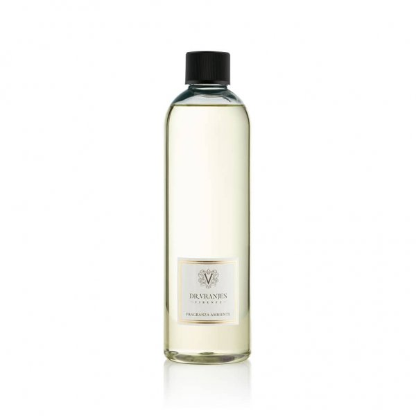 Ginger Lime Diffuser 500ml Refill, plastic bottle, with White Sticks. From Dr. Vranjes Firenze