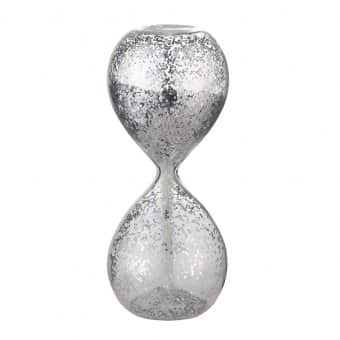'Glisia' Christmas Hourglass, Silver (Large)