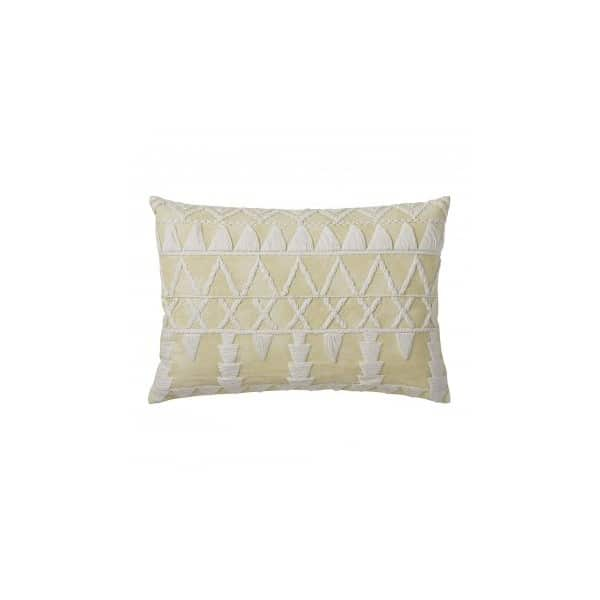 Handmade, 100% Cotton, 'Mellow Yellow' Sera Cushion with Down Filling. By Lene Bjerre of Denmark