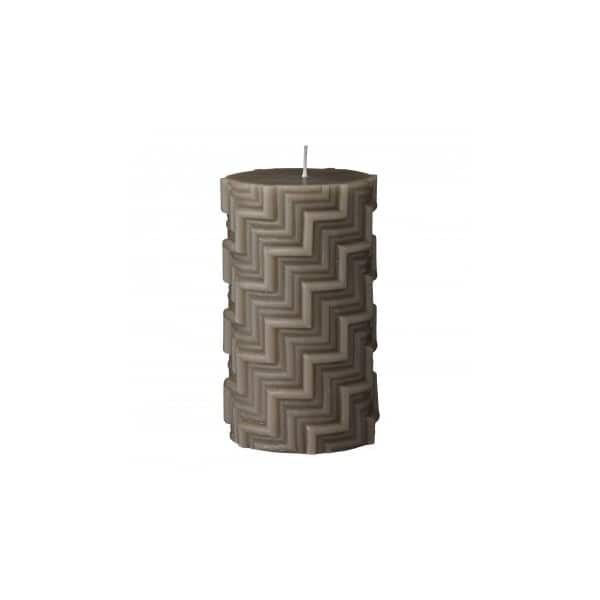 Handmade 'Conira' pillar Candle in Moon Rock (colour). By Lene Bjerre of Denmark