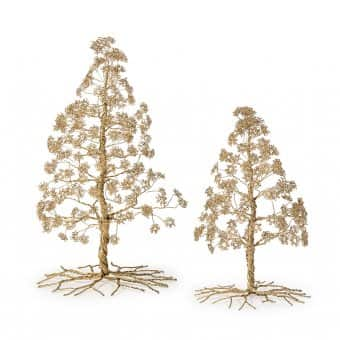 Pine Tree, Iron, Antique Gold (H:43cm)