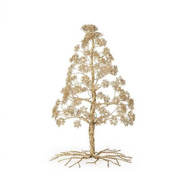 Handmade Pine Tree range, beautifully crafted from Iron, presented in Antique Gold. By Dekocandle of Belgium