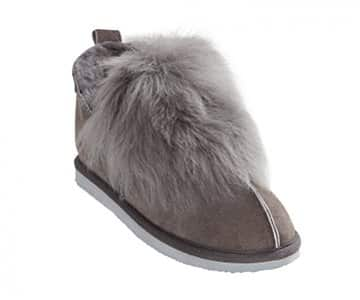 'Jolina' 100% Sheepskin Slippers in Grey. By Shepherd of Sweden