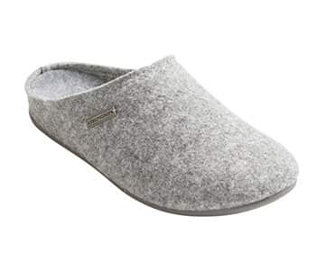 'Jon' Wool Slippers in Grey. By Shepherd of Sweden