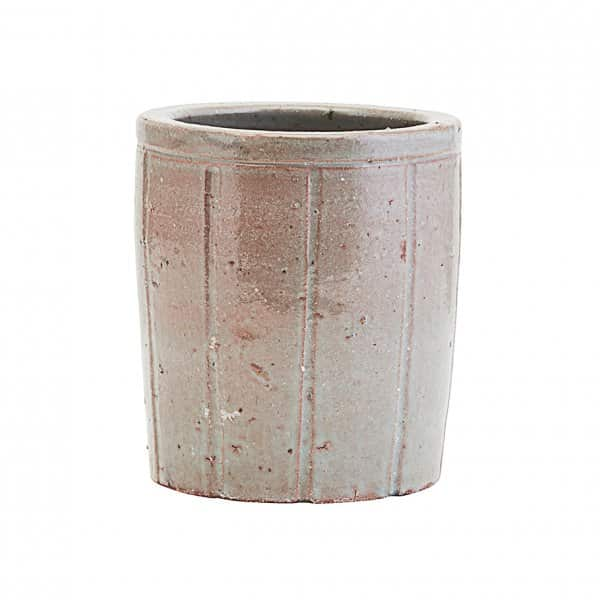 'Julian' Planter Pot, made from Clay, finished in Grey / Green and Glazed. House Doctor of Denmark