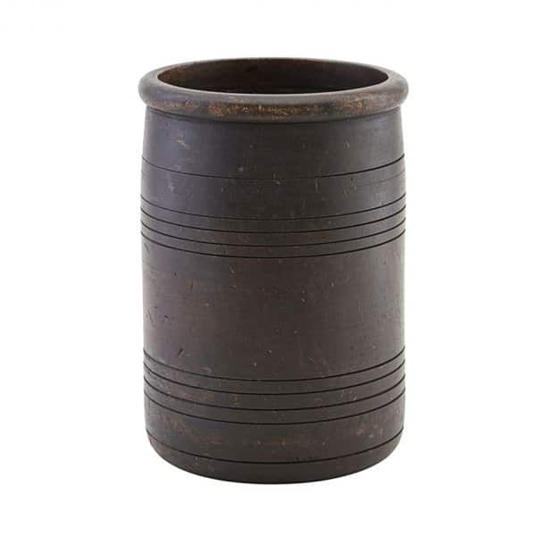 'Kango' Flowerpot, made from Mango Wood, and presented in Dark Brown. By House Doctor of Denmark