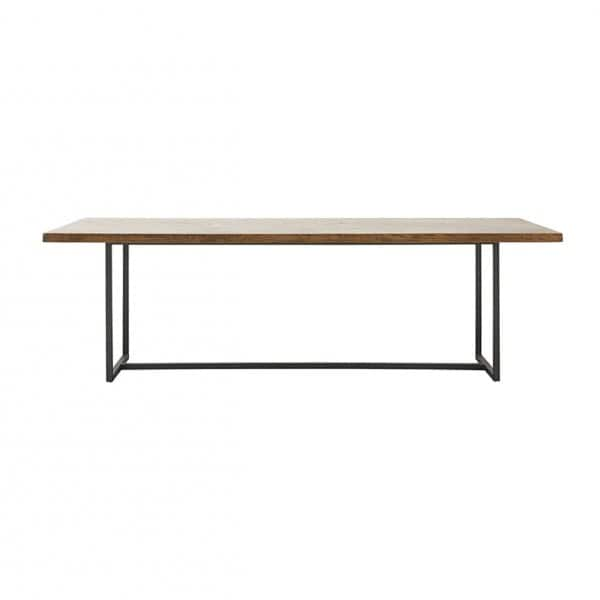 'Kant' Dining Table, made from Mango Wood & Metal; Simple & stylish. By House Doctor