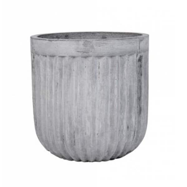 'Karol' Fiber Clay Pot, in Grey, for indoor / outdoor use. By Lene Bjerre of Denmark