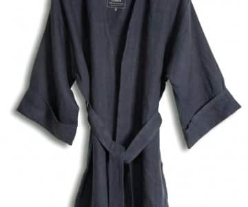 Kimono in Dark Grey, loose fit, made from 100% Linen, by Lovely Linen. 35% Off!