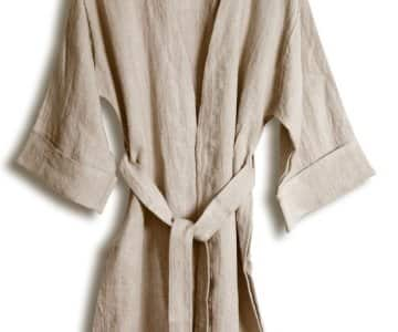 Kimono in Natural Beige, loose fit, made from 100% Linen, by Lovely Linen. 35% Off!