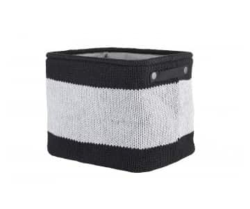 Knitted & Lined 'Kacey' Storage Basket range in Black/Cement (colour). By Lene Bjerre of Denmarl