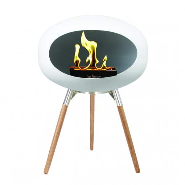 Le Feu 'Ground Low' Bio Fireplace in White. By Lauritsen of Denmark