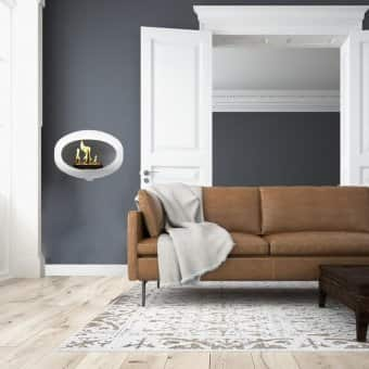 Le Feu 'Wall' Fireplace in White