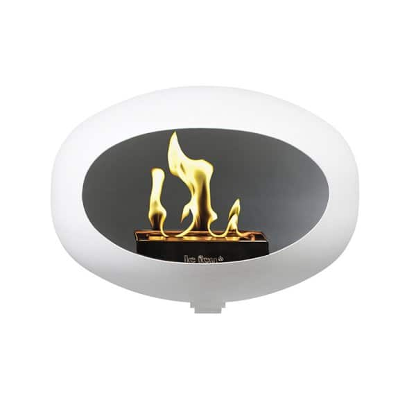 Le Feu 'Wall' Bio Fireplace in White. By Lauritsen of Denmark