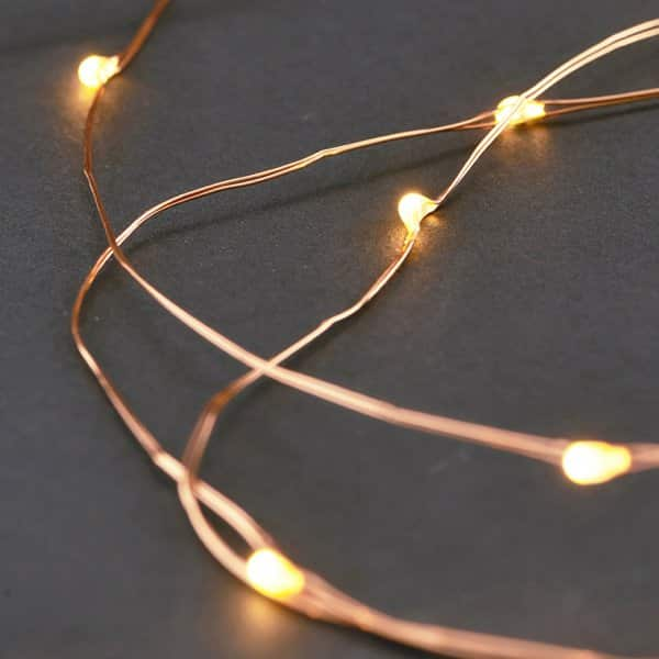 LED Light Chain (10m) with 80 bulbs, presented in Copper. By House Doctor