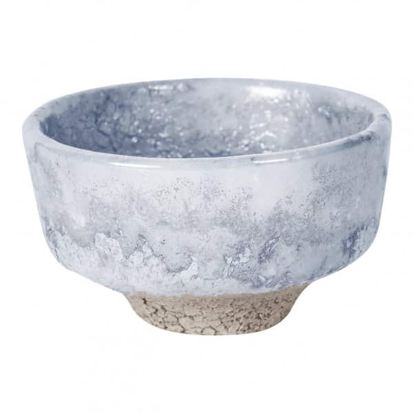 'Lev' Ceramic Pot, part-Glazed, in Grey. By PTMD Collection®