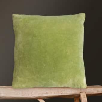 'Lime Green' Velvet Cushion (50cm x 50cm)