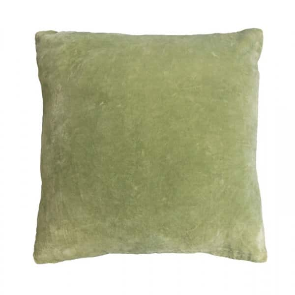 'Lime Green' Velvet Cushion, with Duck down filling, by Vanilla Fly of Denmark