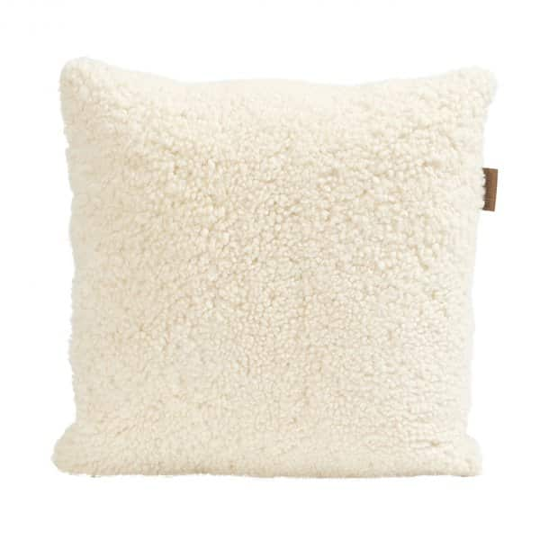 'Lina' - 100% Sheepskin Cushion in Cream. By Shepherd of Sweden