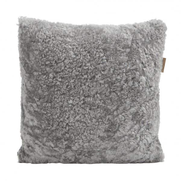 'Lina' - 100% Sheepskin Cushion, with a Wool back, in colour: Natural. By Shepherd of Sweden