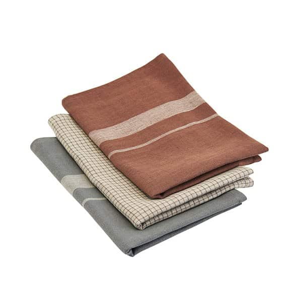 'Linen' Tea Towels (set of 3), in various colours, made from Flax & Cotton. Nicolas Vahé of Denmark