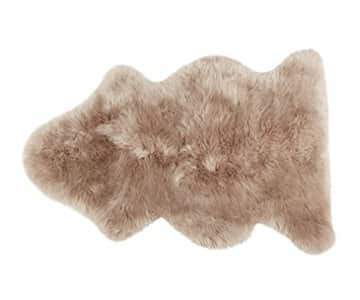 'Linn' - 100% Long-Haired Sheepskin in Camel (colour). By Shepherd of Sweden
