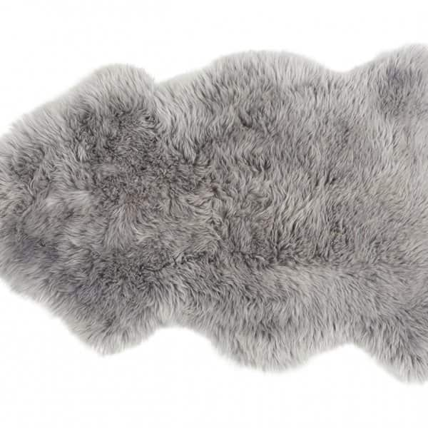 'Linn' - 100% Long-Haired Sheepskin in Grey. By Shepherd of Sweden