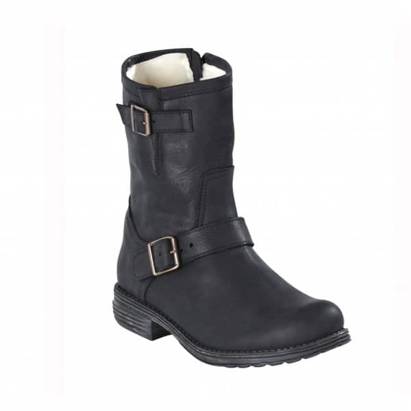 'Linn' Outdoor Ladies Boots in Black. Wool lined with an Oiled Nubuck outer. By Shepherd of Sweden