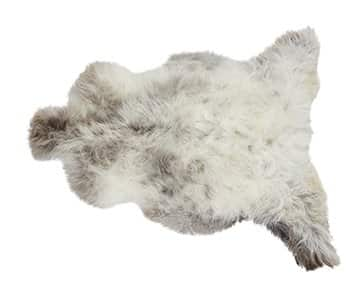 'London' - 100% Long-Haired Sheepskin in Light /  Natural. By Shepherd of Sweden