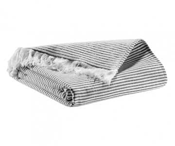 'Lulu' Towel range, made from Cotton, presented in Carbon. By Vivaraise of France