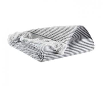 'Lulu' Towel range, made from Cotton, presented in Marine. By Vivaraise of France