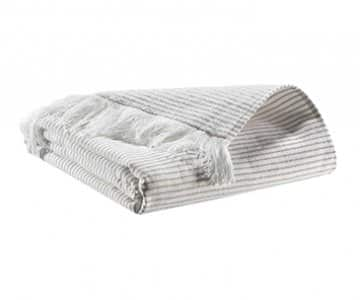 'Lulu' Towel range, made from Cotton, presented in Taupe. By Vivaraise of France