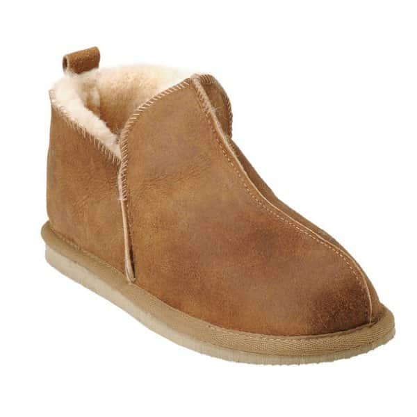 'Annie' 100% Sheepskin Slippers in Antique / Cognac. By Shepherd of Sweden