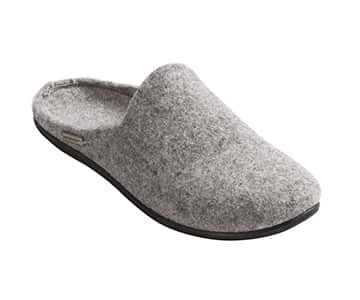 Luxurious 'Iris' 100% Wool Slippers in Grey. By Shepherd of Sweden