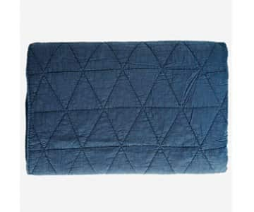 Luxurious Pure Cotton Quilt, with batting, in Navy Blue. By Madam Stoltz of Denmark