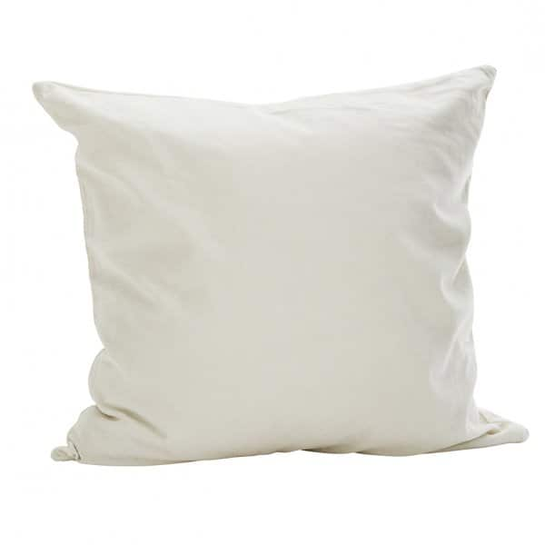 Luxurious Velvet Cushion in Off-White, with Duck down filling. By Madam Stoltz of Denmark