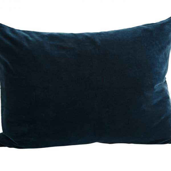 Luxurious Velvet Cushion in Petroleum Blue, with Duck down filling. By Madam Stoltz